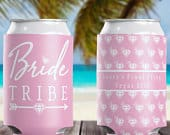 Bride Tribe Can Cooler, Custom Bachelorette Party Can Cozies, Bridesmaid Can Huggers, Personalized Bride Squad I Do Crew Can Wraps