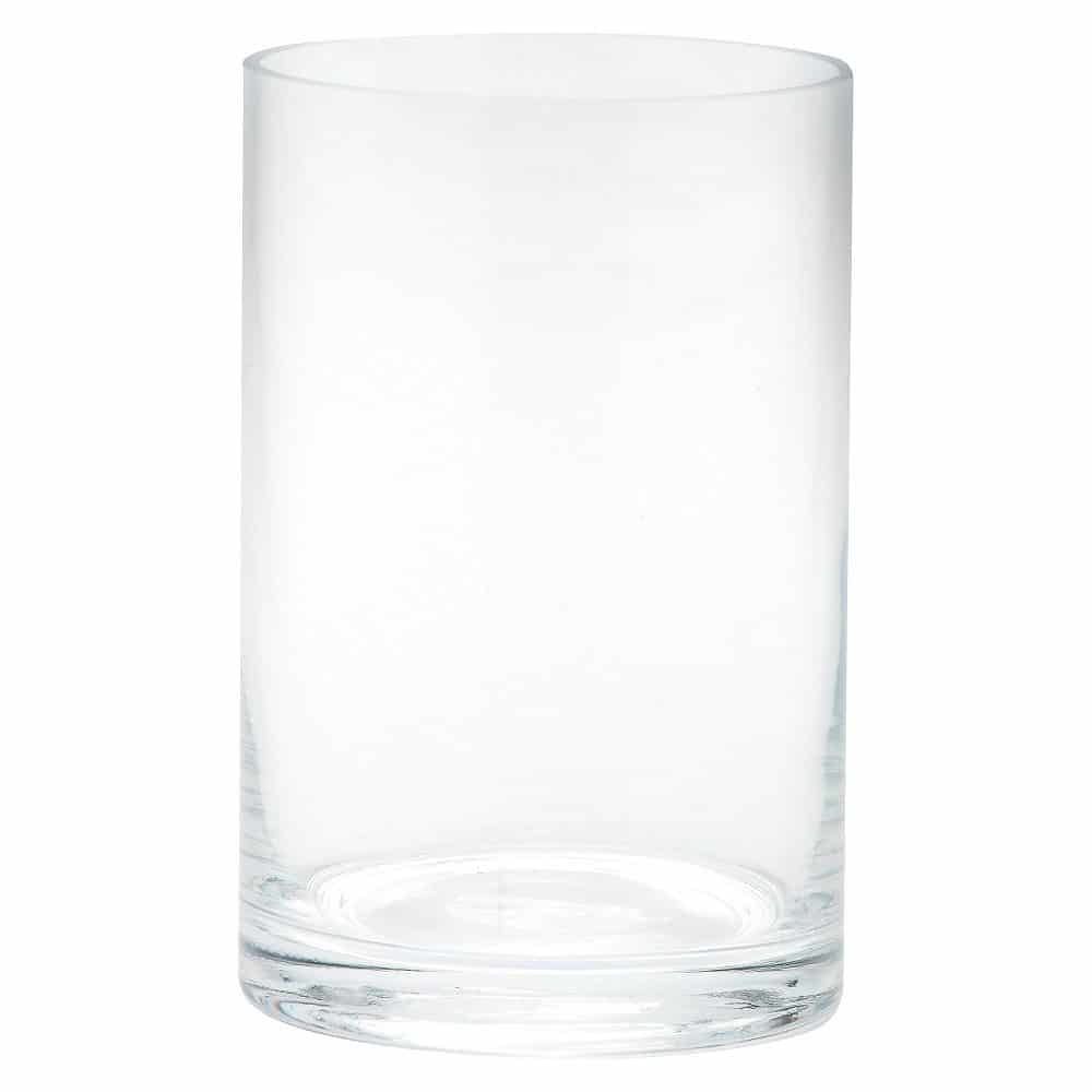 "Diamond Star Glass Cylinder Vase Clear (6""x4"")"