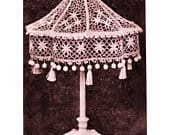 ALMOST FREE PDF Vintage Crochet Pattern Booklet Cluny Lace Crochet Fifteen Pages Lampshade,Hat Trims, Curtains,Boudoir Caps,Doilies,