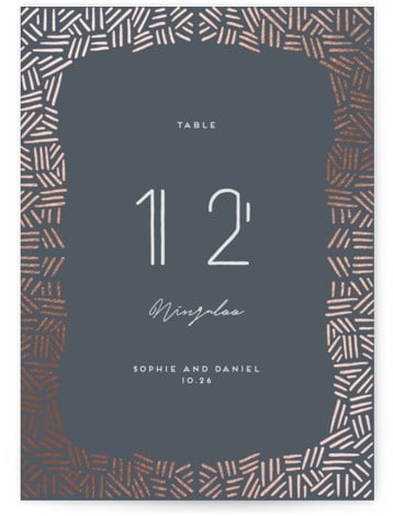 Confetti Frame Foil-pressed Table Numbers