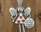 Sister in Law Ornament, Angel Christmas Ornament, Sisters by Marriage, Friends by Choice Christmas Ornament, Family Christmas Ornament