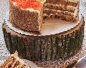 Rustic CAKE STAND Large Wood Slice Natural Wood Slice Cake Holder Perfect for Country Weddings Wild Thing Cake Stand