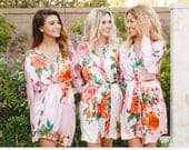 Bridesmaid Floral Robes/ Personalized Robes/ Bridal robes/ Bridesmaid Gifts/ Bridal Party Robes/ Floral Bridesmaid Robe (Secret Garden)