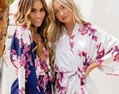 Bridesmaid Robes Bridesmaid Gifts Bridal Party Robes Wedding Robes Bride Robe Bridesmaid Robe Floral Robe (Blossom Love)