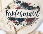 Bridesmaid Robes, Bridal Robe, Personalized Robe, Bridal Party Robes, Satin Lace Robe, Bride Robe, Getting Ready Robe, Wedding Robes, Floral