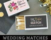 Wedding Matches Personalized Matches Match Box Wedding Matchbox Wedding Favors Matches A Perfect Match (EB3101MP) set of 50