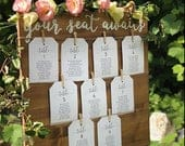 Wood wedding sign, wedding seating chart, escort card sign, find your seat sign, your seat awaits sign, be our guest, rustic wedding decor