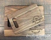 Wedding Gift, Wedding Gifts for Couple, Personalized Cutting Board, Bride Groom Gift, Couple Cutting Board, Monogram Wood Cutting Board