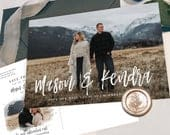 Save the Date Template with Photo Printable Save the Date Card Photo Save the Dates Templett Editable Save the Date with Pictures S032