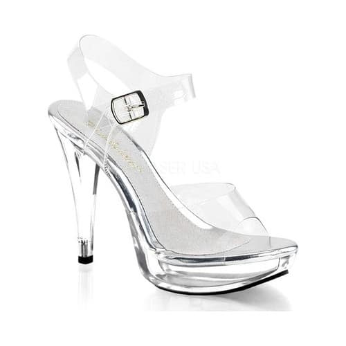 Women's Fabulicious Cocktail 508, Size: 5 M, Clear/Clear