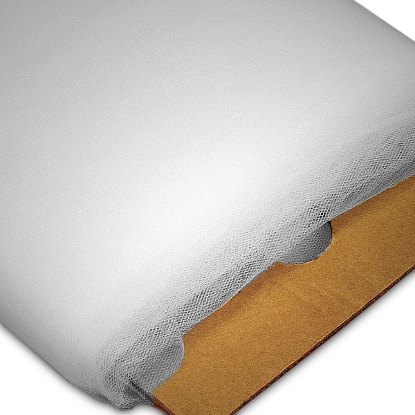 "White Tulle - 108"" X 50 Yards - Fabric Cloth - Width: 108"" by Paper Mart"