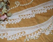 Antique Vintage 1920s NEVER USED Handmade Crochet Lace Trim Shamrocks Off White 2 1/2 wide by 44 or 1.22 Yards Long CSCro17