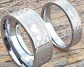 Claddagh Promise Ring, Claddagh Band, Tungsten Band, Celtic Tungsten Ring, Celtic Couples Ring, Knot Ring, Irish Ring, Celtic Wedding Band