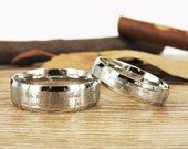 Handmade Your Marriage Vow Signature Rings Wedding Rings, Matching Wedding Bands, His and Her Wedding Rings Set