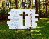 A Cord Of three Strands Board Sign, Unity Braids Signs Cross, Unity Cords, Wood Signs, Gods Wedding Knot, Marriage Braid, Rustic Wood Signs