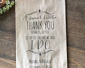 Wedding Favor Bags, Candy Buffet Bags, Candy Bar Bags, Favor Bags, Personalized Wedding Favor Bags, Treat Bags, Custom Favor Bags, Pkg of 25