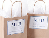 Wedding Favor Bags Personalized Welcome Bags 25 count