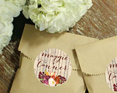 24 Paper Favor Bags Rustic Fall Label Wedding Favor Bags Bridal Shower Favor Bags Kraft Favor Bags Baby Shower Favors Fall Label