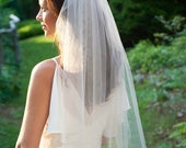Bridal Veil, Cut Edge Veil, Simple Wedding Veil, Veil for Bride, Wedding Veil, Ivory Veil, White Veil, Veil for Wedding, Simple Veil,VB5090