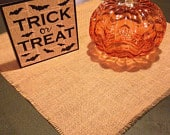Burlap table squares, wedings, halloween.Ships next day