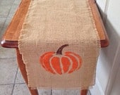 Burlap table runners,ships in two days, Haloween tale runner, Halloween party