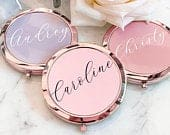 Bachelorette Party Favors Bachelorette Party Gifts Bridesmaid Gifts Mirror Compact Favors Personalized Gifts for Women (EB3166AD)