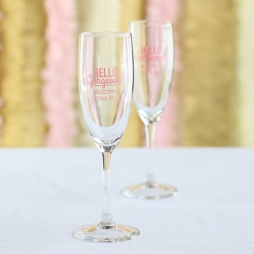 Personalized Baby Champagne Flute Favors