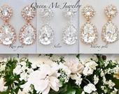 Crystal Earrings, Swarovski, Gift for her, a Bride, Bridesmaids, Mother of Bride, Maid of Honor, Wife, Bridal, Wedding Jewelry. SOPHIA
