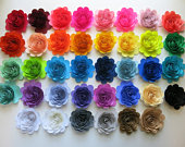 Custom Quantity and Color Paper Flowers, 3 Scalloped Roses, Loose or on Stems, Wedding Party Decor, Bridal Shower Table, Wall Decorations