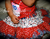 Aris Angels 4th of July Ultimate Twirling Skirt Full Ruffled Girls independence Day Skirt
