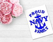 Navy Corps Decal Navy Family Navy Stickers Memorial Day 4th of July Proud Military Family Military Family Agenda Decals