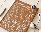 Rustic Wedding Guest Book, Monogram, Bridal Shower Gift for the Couple, Rustic Guest Book, Photo Guest Book, Kraft Guest Book, Guestbook