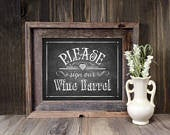 Chalkboard Wedding Sign PRINTABLE Sign our Wine Barrel sign, Chalkboard printable, Vineyard Wedding Signs, Rustic Wedding Signage, Decor