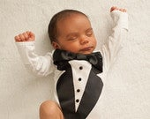 Baby Tuxedo Wedding baby Ring Bearer outfit Wedding baby tux newborn baby gift winter baby newborn photo formal wear baby