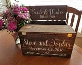 Custom Rustic Reclaimed Wood Wedding Card Box with FREE Personalization and FREE SHIPPING