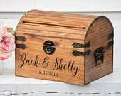 Wedding Card Box Rustic Card Box With Slot Advice Box Wooden Wedding Card Holder With Names Memory Chest Custom Keepsake Trunk