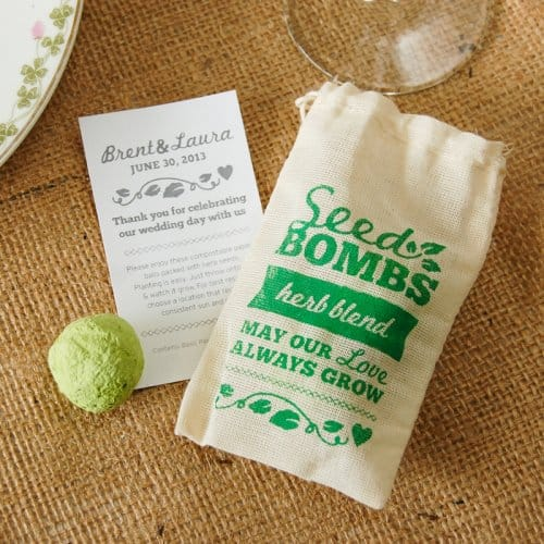 Personalized Herb Seed Bombs Favor