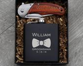Groomsmen Gift Flask Set Personalized Engraved Box Best Man Bachelor Party Proposal Wedding Favors Gift For Him