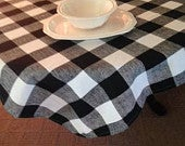 buffalo black and white tablecloth ships next day