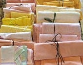PASTEL TABLECLOTH and NAPKIN lot