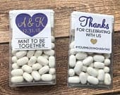 Tic Tac Wedding Stickers. Mint to be Favor Labels. Wedding Favors for Guest. DIY Wedding Favor Ideas. Thank You Wedding Stickers.