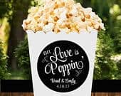 Personalized Poppin Popcorn Tags, Treat Tags, Favor Tags Printable or Printed with FREE SHIPPING Love is Poppin Collection