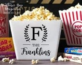 Personalized Popcorn Tub, Corporate Gifts, newlywed gifts, family gifts, popcorn theme party, movie party favors, party favors, birthday