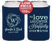 Wedding Favors, Custom Wedding Favors, Personalized Can Cooler, Wedding Reception, Favors for Wedding, Engagement Party Favors (C61)