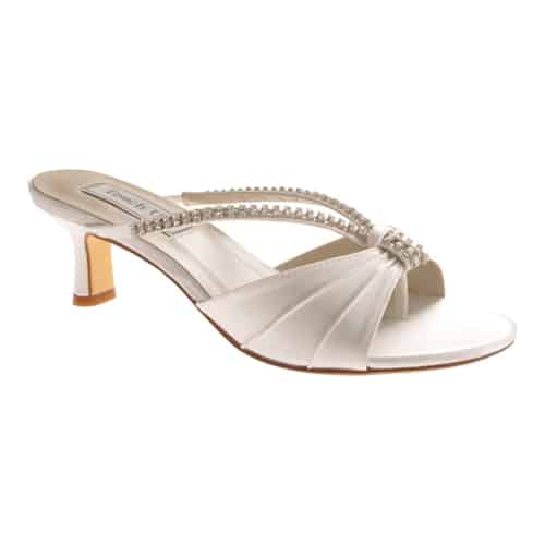 Women's Touch Ups Phoebe, Size: 7 W, White Satin