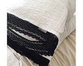 Lady Lace Pillowcases, White with Black Trim (set of two)