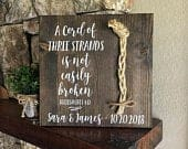 A Cord Of Three Strands Wedding Sign, Ceremony Sign, Ecclesiastes 4:912
