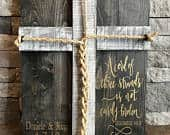 A Cord Of Three Strands Sign, A Cord of 3 Strands, Ecclesiastes 4:912, Wedding Ceremony Sign, Unity Ceremony Sign, Rustic Wedding Gift