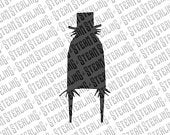 Halloween Cake Topper Babadook Silhouette Laser Cut LGBT Gay Lesbian Friendly