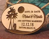 Wedding Save The Date Magnet , Beach Save the Date Magnet, Personalized Save The Date Magnet, Beach Save the Date